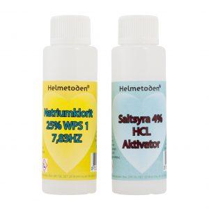 3 flaskor Natriumklorit 25% & 3 flaskor Saltsyra 4% (betala för 5 flaskor)