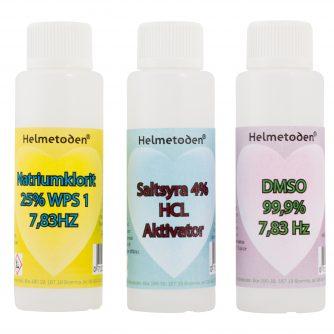 3 bottles Sodium chlorite